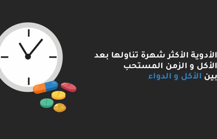 الأدوية الأكثر شهرة تناولها بعد الأكل